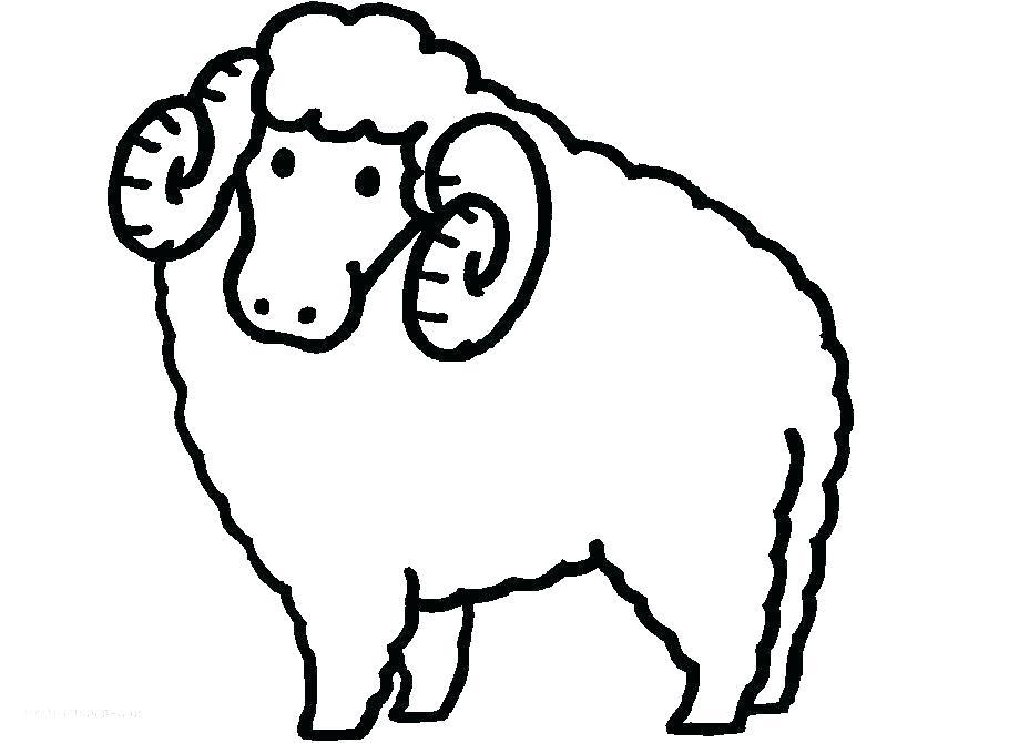 910x670 Sheep Colouring Pages New Year Sheep Colouring Page Baa Baa Black