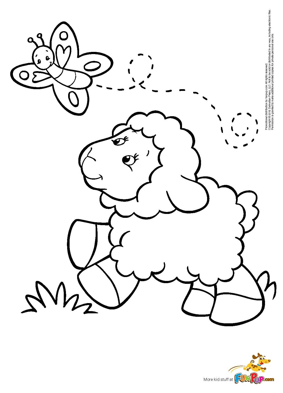 1163x1613 Butterfly Sheep Coloring Page Nanny's Quilts