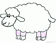 236x182 Sheep Outline Drawing Coloring Page