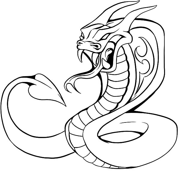 600x573 King Cobra Coloring Pages Cobra King Cobra And Craft