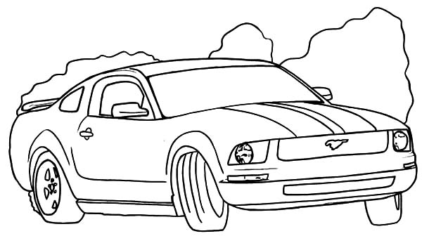 600x336 Drifting Mustang Car Coloring Pages Best Place To Color