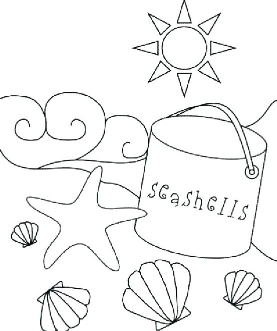 553x660 Sea Shells Coloring Pages Page Image Images Beach Coloring