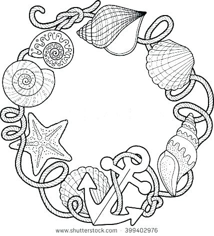 428x470 Beach Ball Coloring Pages Coloring Page Beach Seashell Coloring
