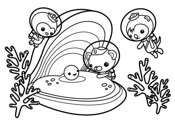 600x429 The Octonauts Meet Sea Shell Coloring Page