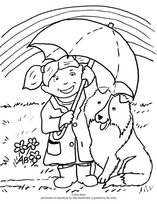 509x659 Free Coloring Sheet Download April's Showers Sheltie Amy