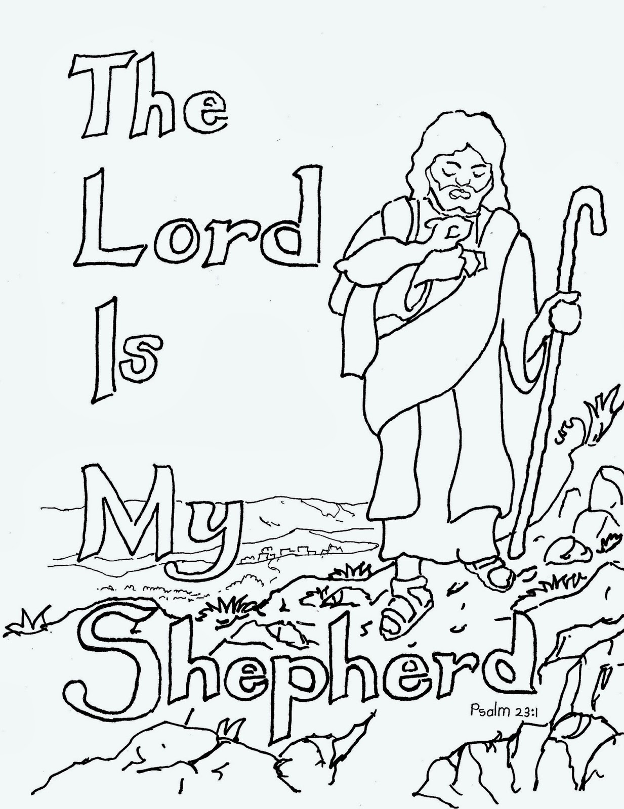 1233x1600 In Shepherd Coloring Page