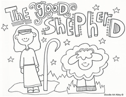 250x193 Jesus The Good Shepherd Coloring Pages