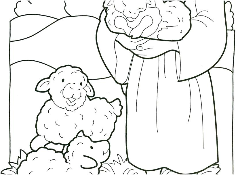 827x609 Little Lost Sheep Coloring Pages Kids Coloring Coloring Pages Good