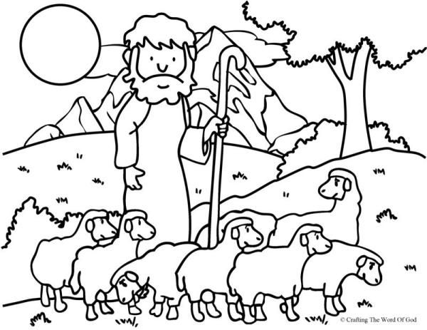 600x463 Lord Is My Shepherd Coloring Page Sunday School
