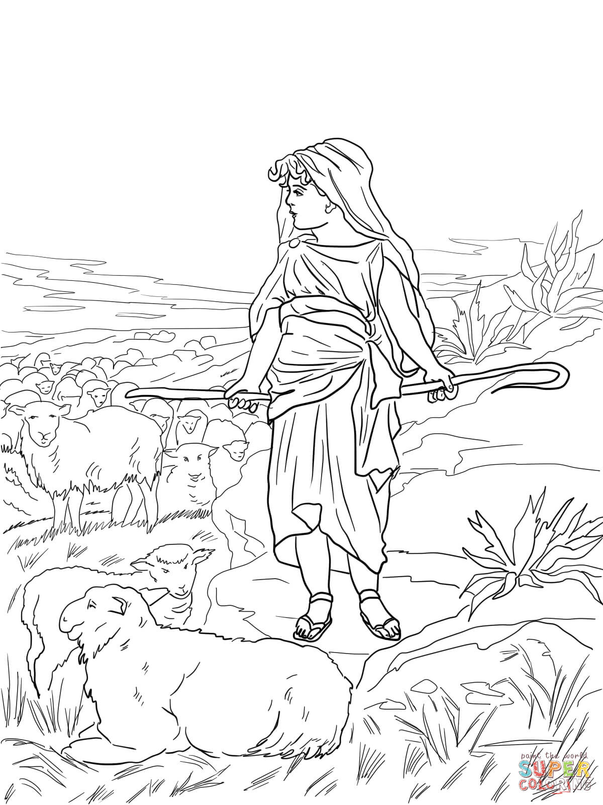 1200x1600 Now David The Shepherd Coloring Page Olegratiy