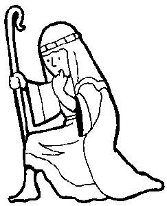 243x298 Printable Christmas Coloring Page Shepherd