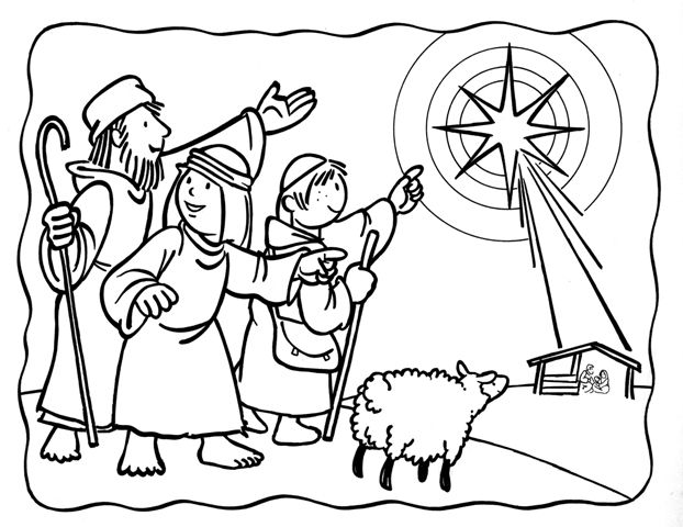 622x480 Shepherds Coloring Page Nativity Color Page Printable Nativity