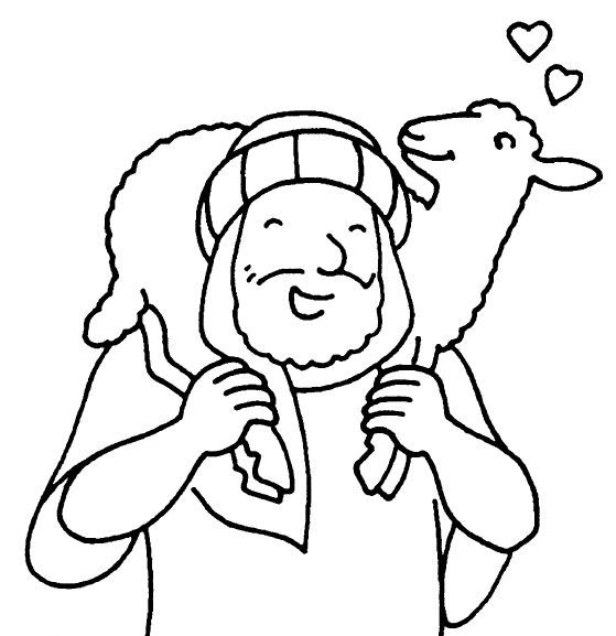 559x577 The Good Shepherd Bible Coloring Pages Coloring Pages Of Good