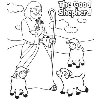 340x340 The Good Shepherd Easter Coloring Page Easter Sunday School