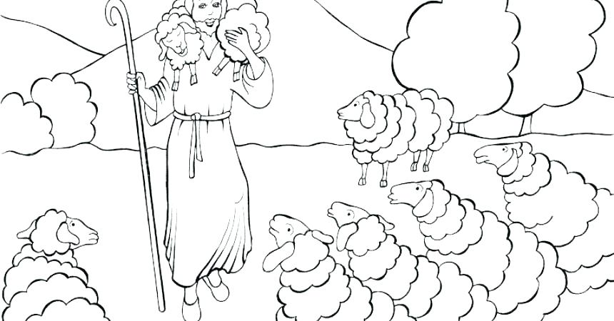 860x450 Jesus The Good Shepherd Coloring Pages