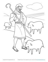 200x257 Bible Coloring Pages For Kids The Shepherd Tends His Flock