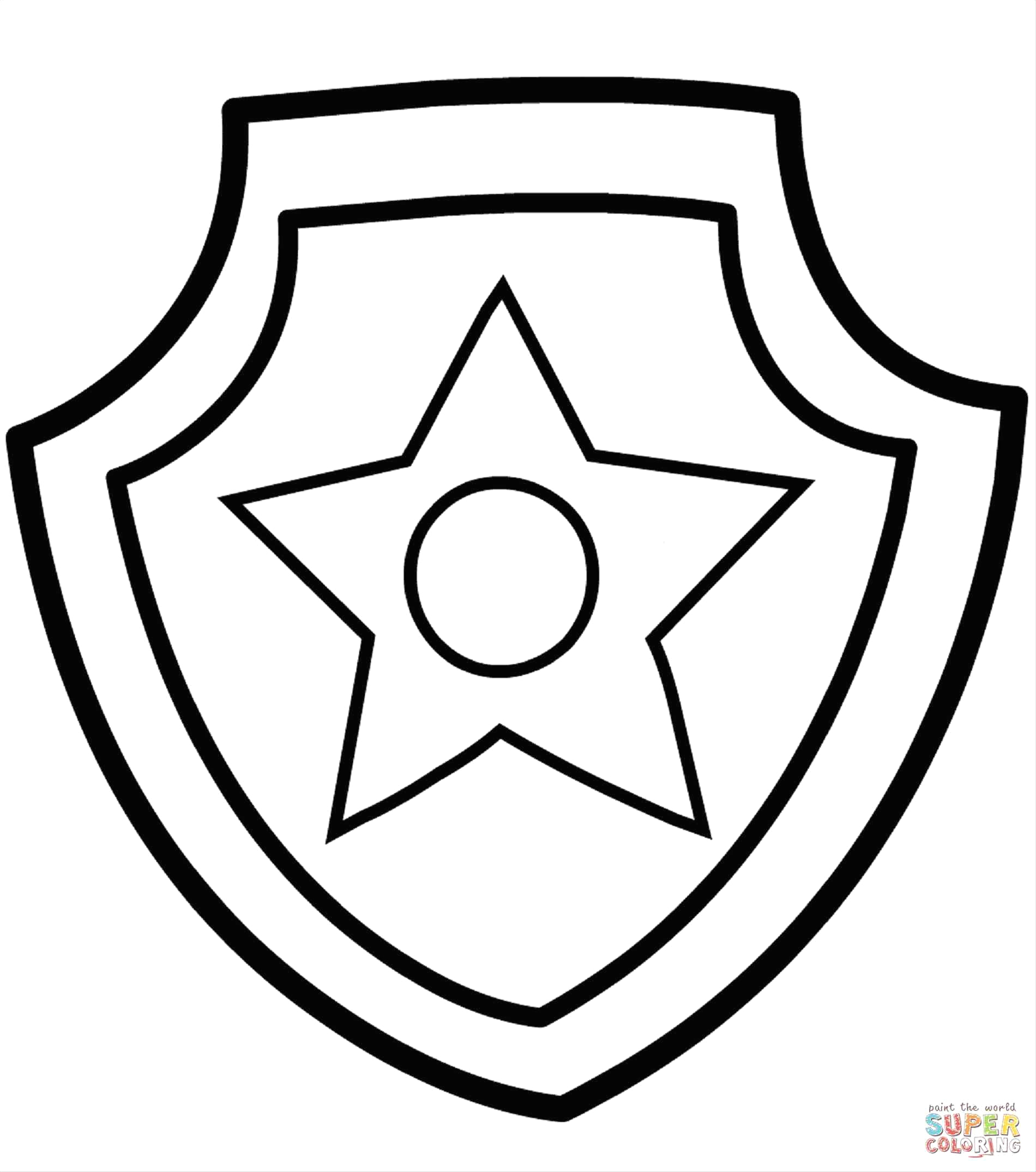 1900x2149 Police Badge Coloring Page Printable Coloring Pages