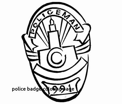 410x350 Police Badge Coloring Page Best Of Color
