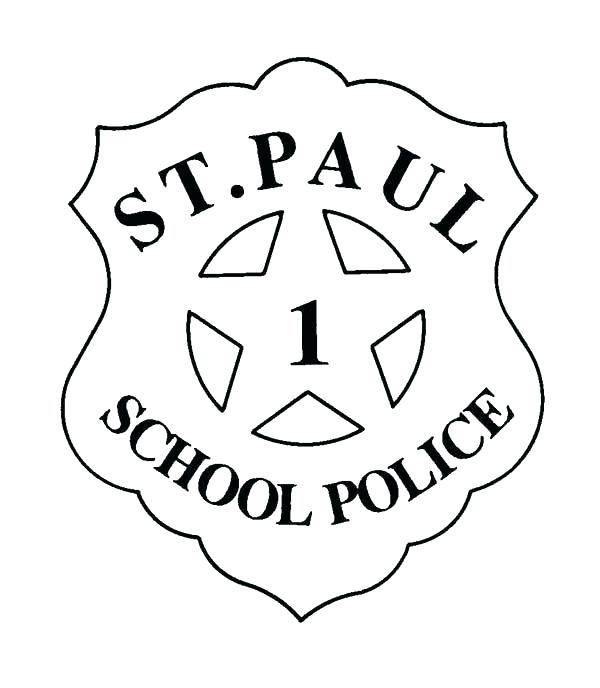 600x688 Police Badge Coloring Page Police Badge Coloring Page St School