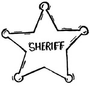 300x298 Sheriff Badge Coloring Page
