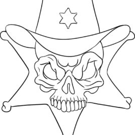 268x268 Sheriff Badge Free Printable Coloring Pages Sheriff Star Coloring