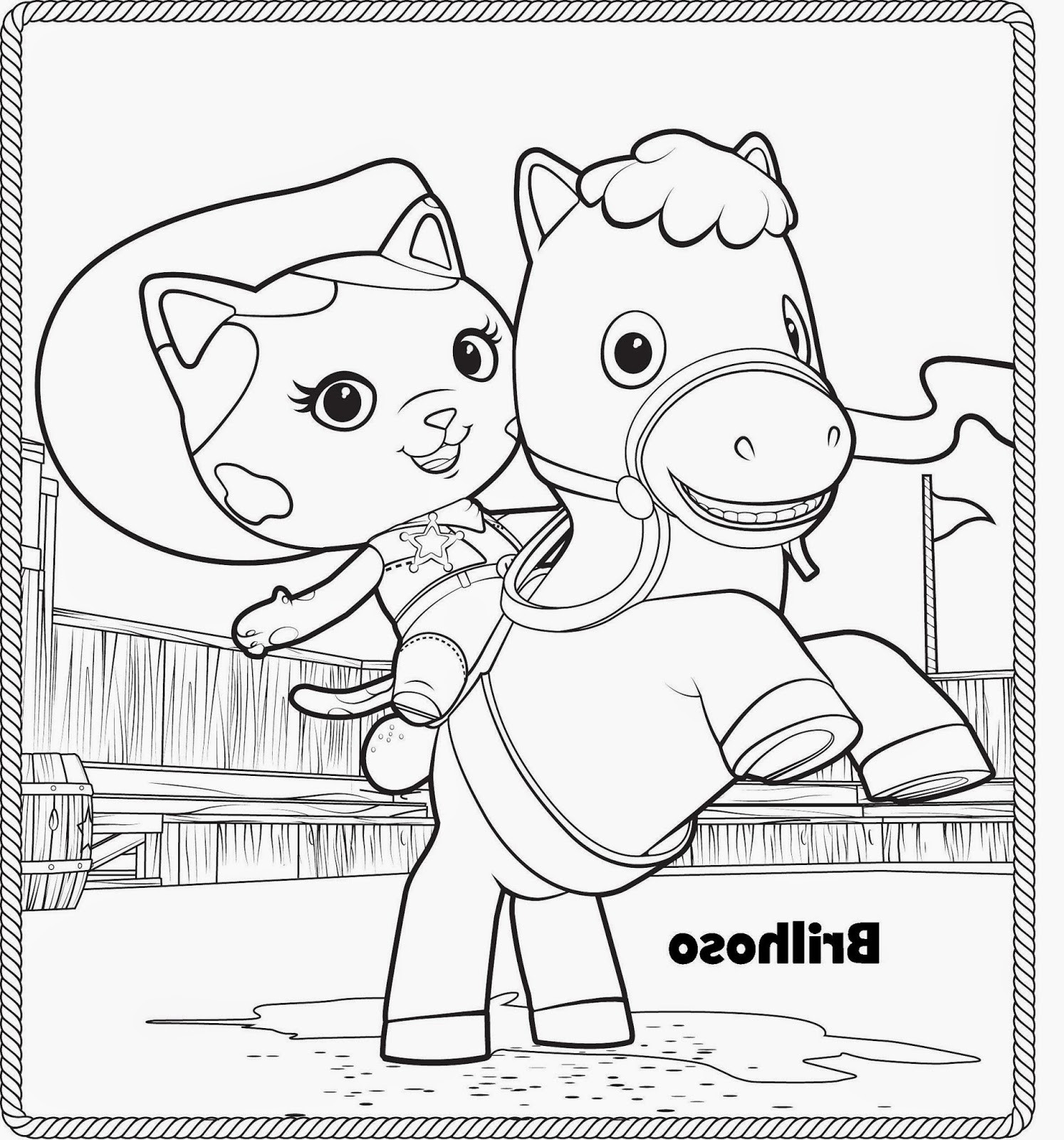 1494x1600 Sheriff Callie Coloring Pages