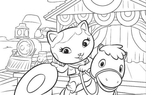 469x304 Sheriff Callie Coloring Pages Just Colorings
