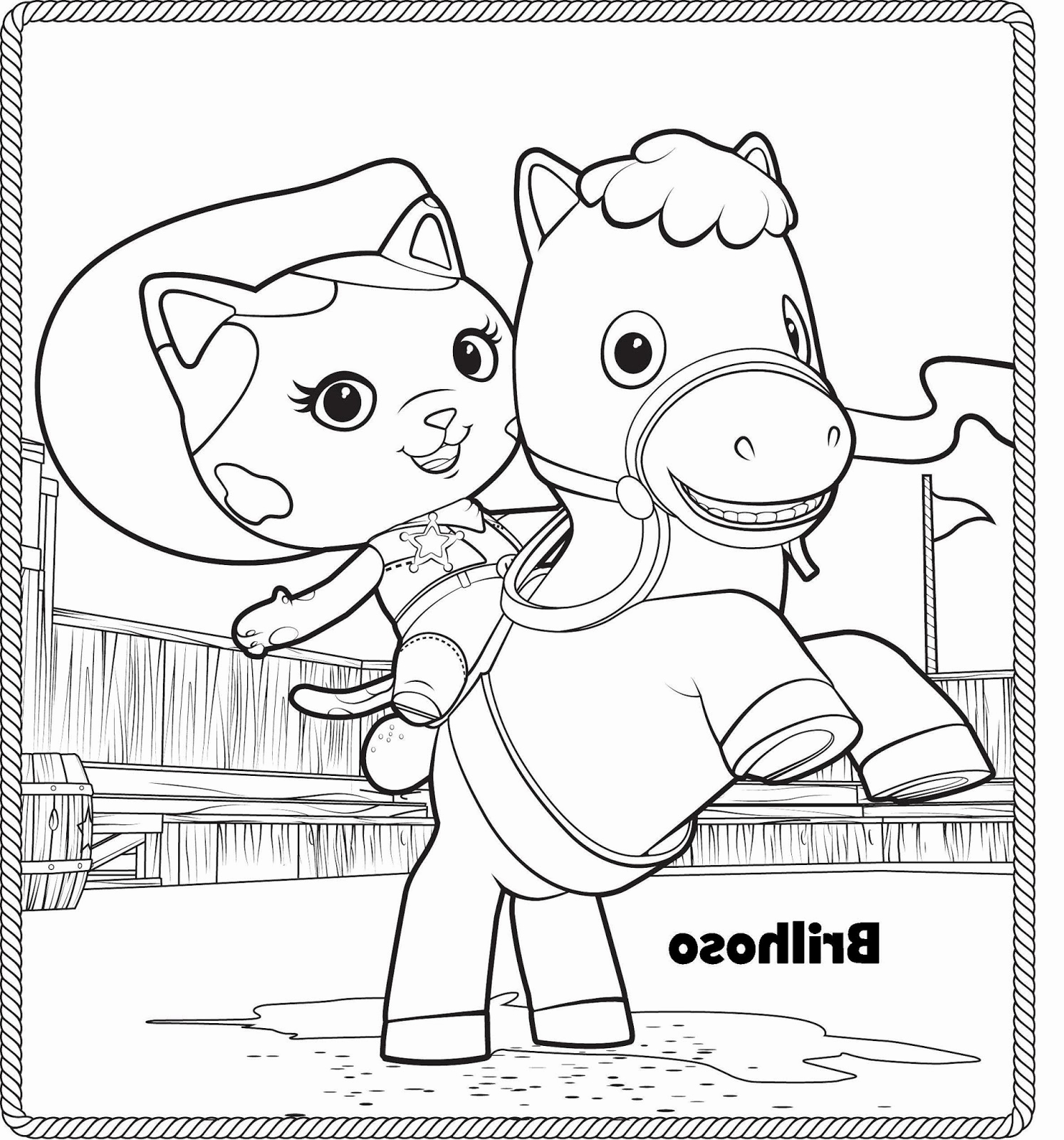 Sheriff Callie Coloring Pages Free At Getdrawingscom Free
