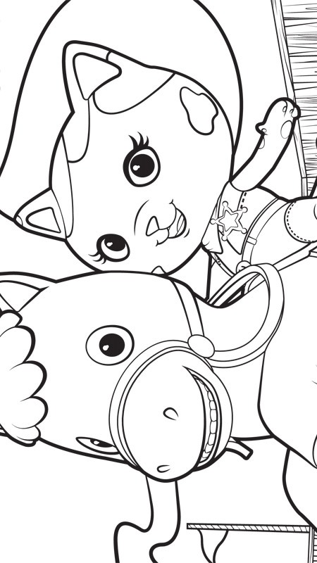 450x800 Kids N Coloring Pages Of Sherrif Callie