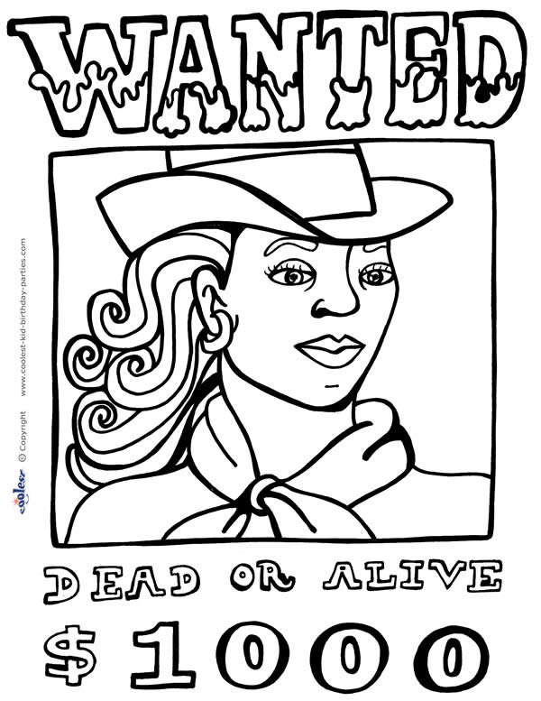 600x777 Peaceful Design Ideas Wild West Coloring Pages For Kids