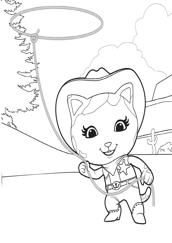 595x842 Sheriff Callie Coloring Pages