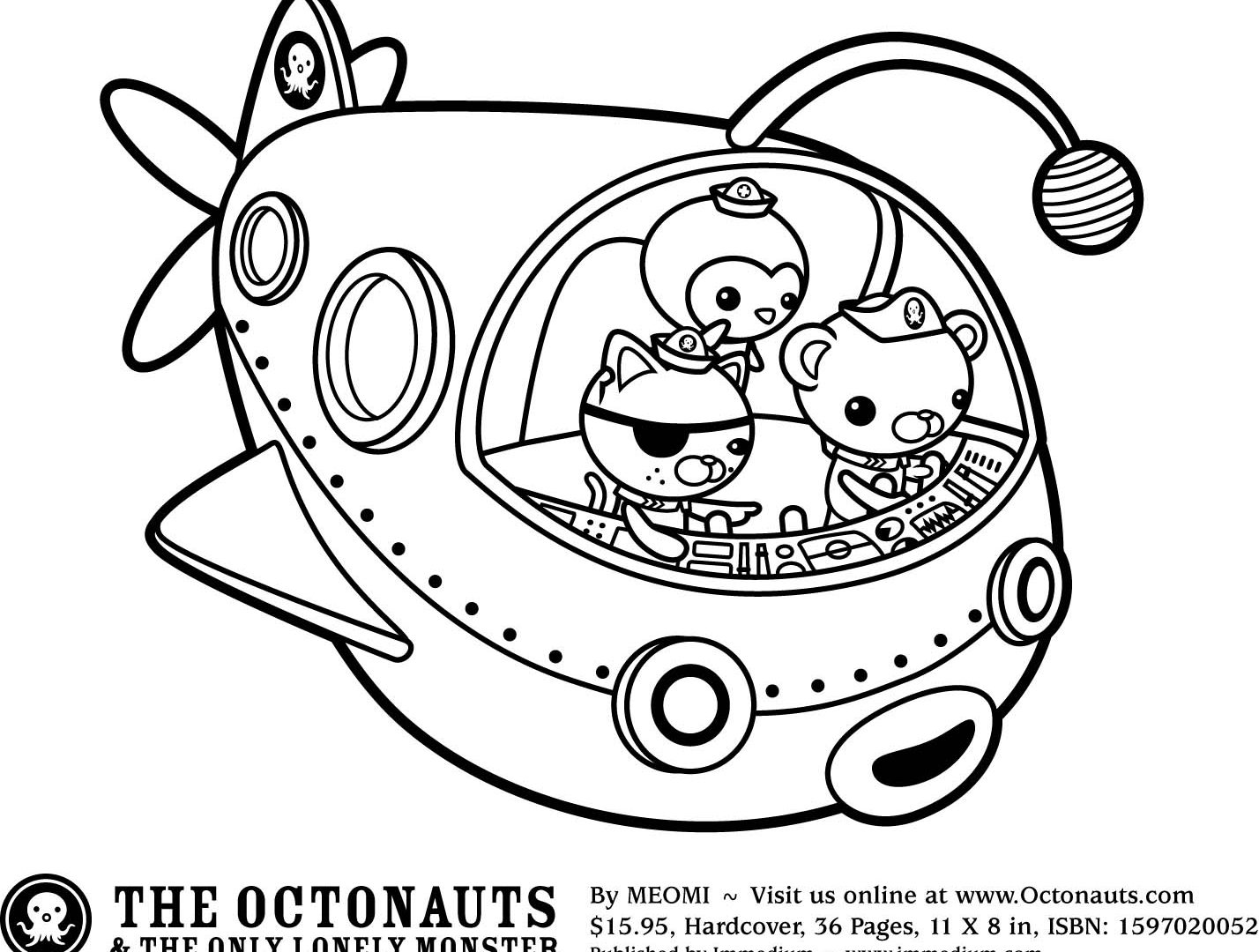 1428x1080 Wonderful Black And White Cartoon Octopus With Coloring Pages