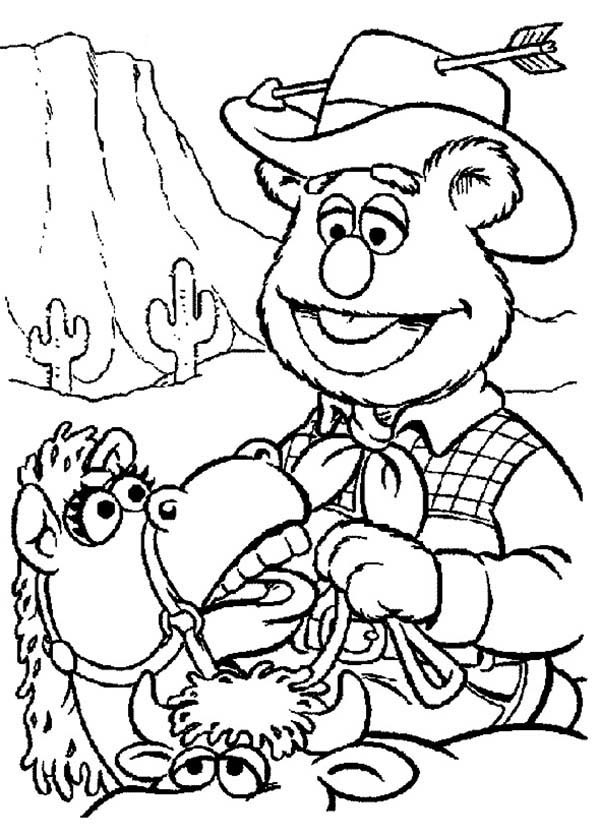 600x837 Clever Design Wild West Coloring Pages For Kids With The Cowboy