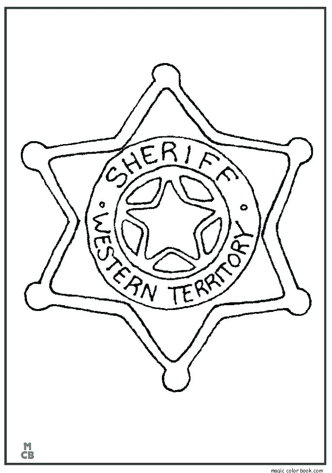 685x975 Cowboys Deputy Sheriff Badge Coloring Page Country Western Cowboys