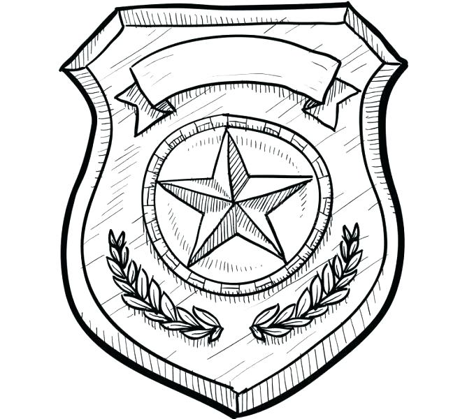 678x600 Sheriff Badge Printable Best Of Police Badge Coloring Page Sheriff