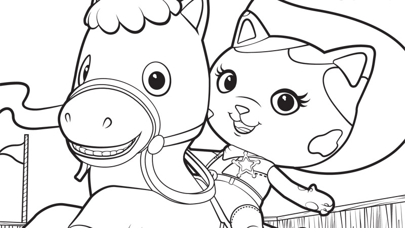 800x450 Sheriff Callie Coloring Pages