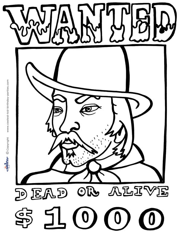 600x777 Very Attractive Wild West Coloring Pages For Kids With The Cowboy