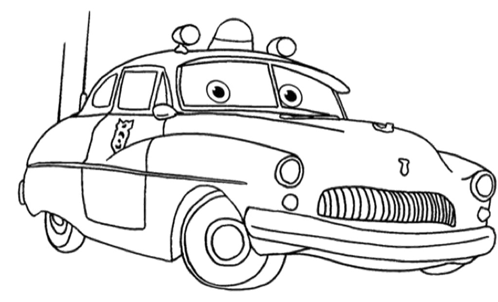 1024x622 Cars Sheriff Coloring Pages