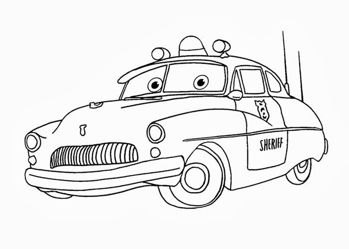 700x500 Cars Sheriff Coloring Pages Free Coloring Pages And Coloring