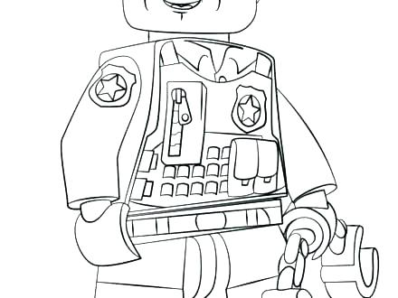 440x330 Police Hat Coloring Page Police Badge Coloring Page Sheriff Badge