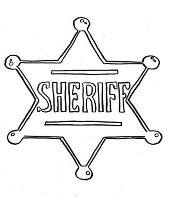 600x690 Sheriff Badge Coloring Page Printable Coloring Page