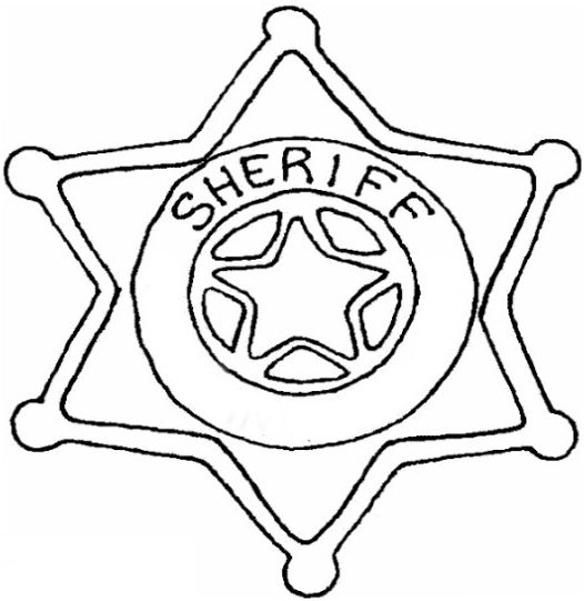 526x541 Sheriff Badge Coloring Pages
