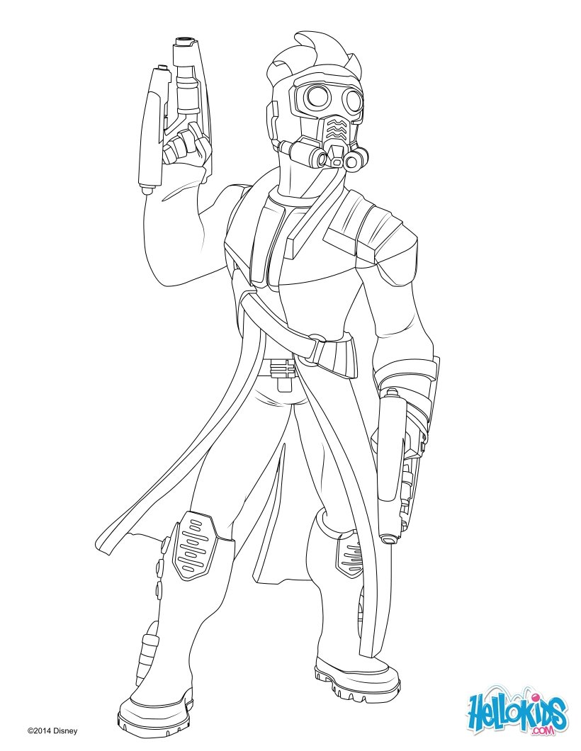 820x1060 Star Lord Guardians Of The Galaxy Coloring Pages