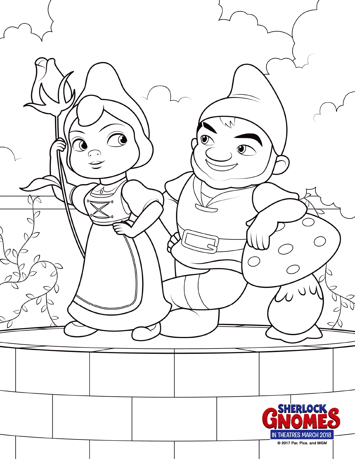 1200x1553 Sherlock Gnomes Coloring Page Gnomeo And Juliet