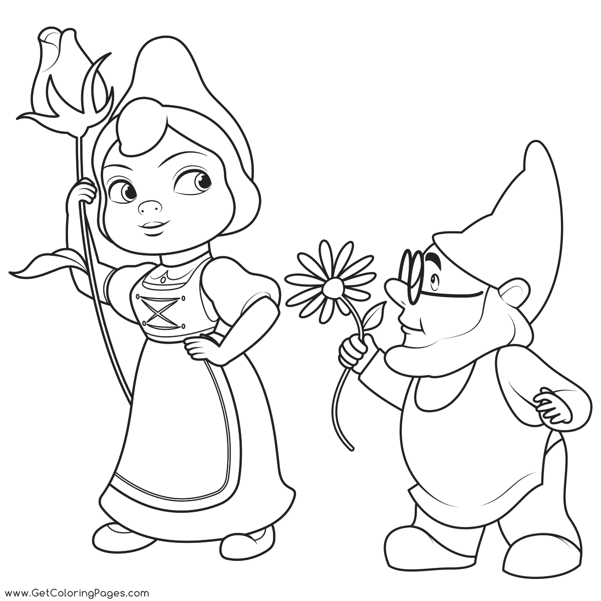 1200x1200 Sherlock Gnomes Coloring Pages
