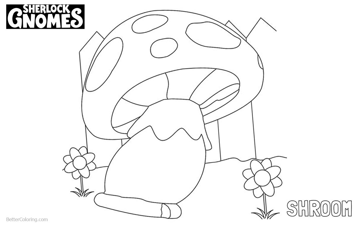 1200x760 Sherlock Gnomes Coloring Pages Shroom
