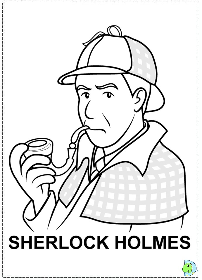 691x960 Sherlock Holmes Coloring Pages