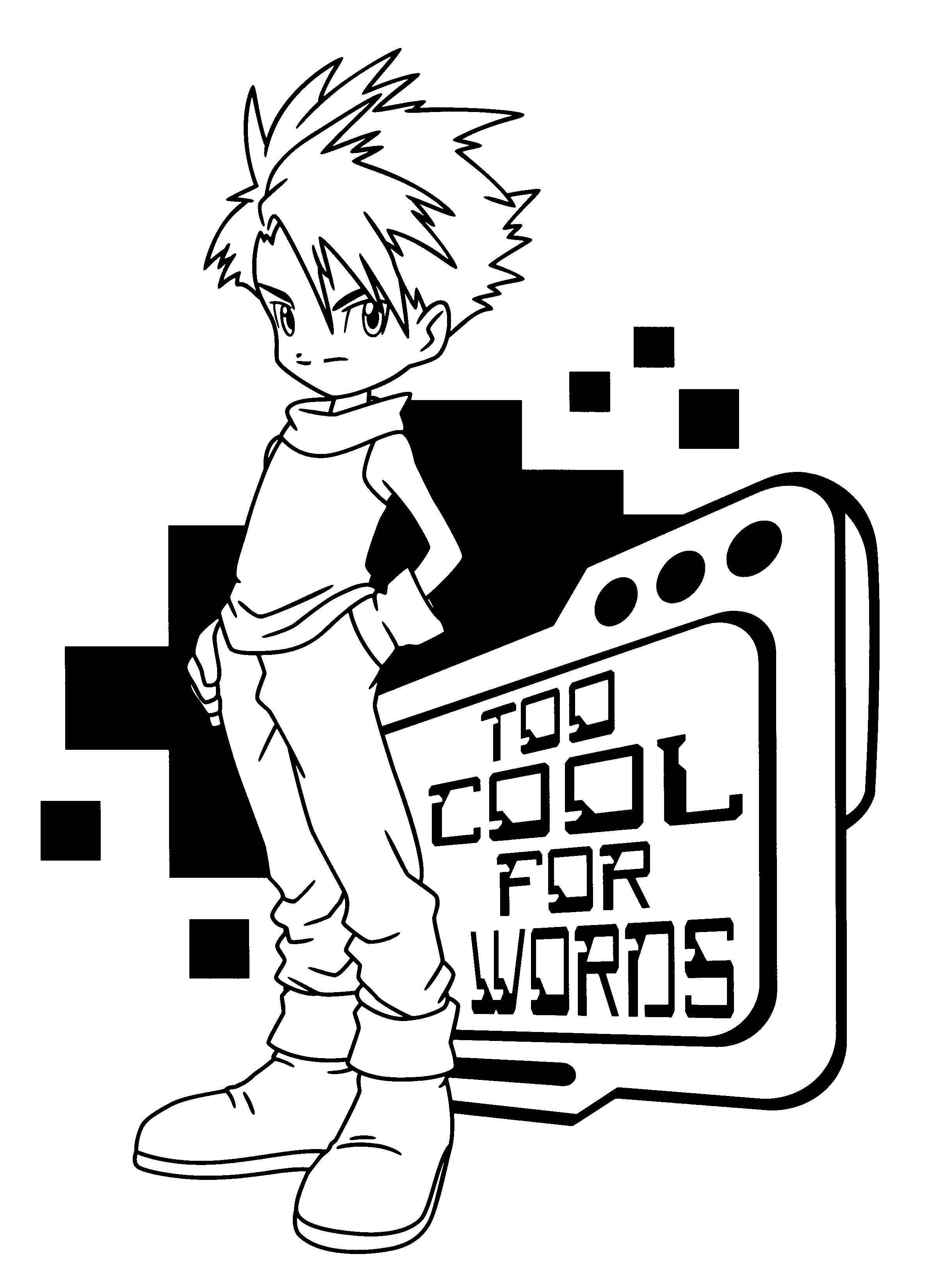 2400x3300 Digimon Coloring Pages Printable