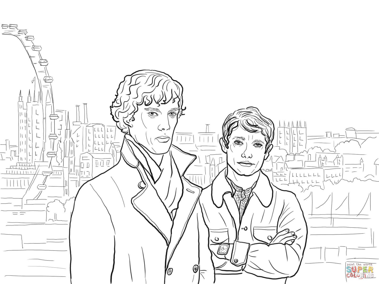 1600x1200 Image Result For Sherlock Holmes Coloring Pages Coloring Super
