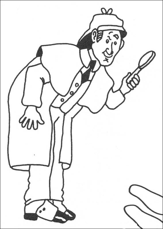 567x794 Sherlock Holmes Coloring Pages